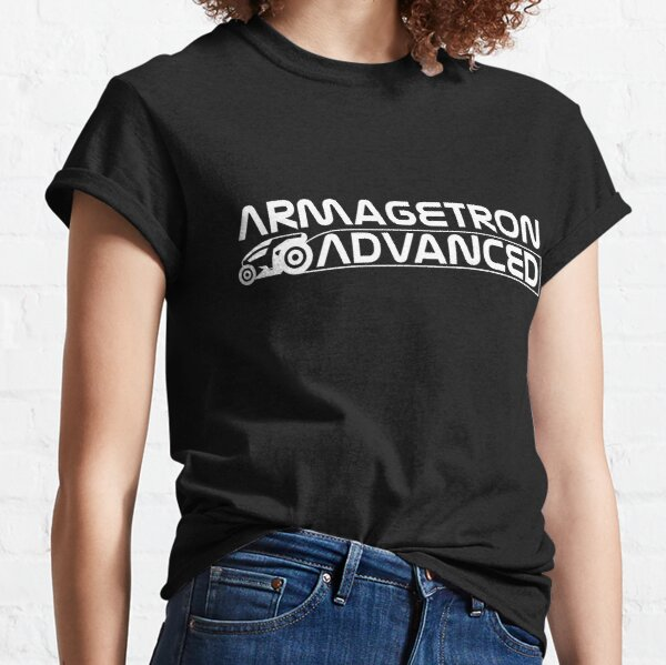 Armagetron Advanced Stacked Logotype in White Classic T-Shirt