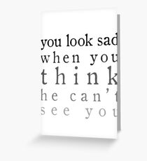 Sherlock - Sad Greeting Card