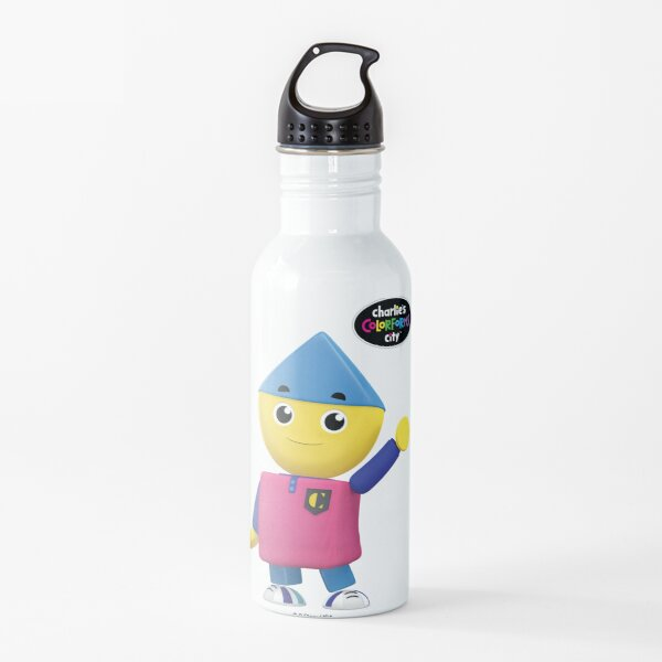 Charlie's Colorforms City - Charlie Waving Water Bottle