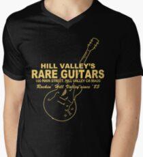 Hill Valley Rare Guitars - Rockin' Since '85 Gibby Mens V-Neck T-Shirt
