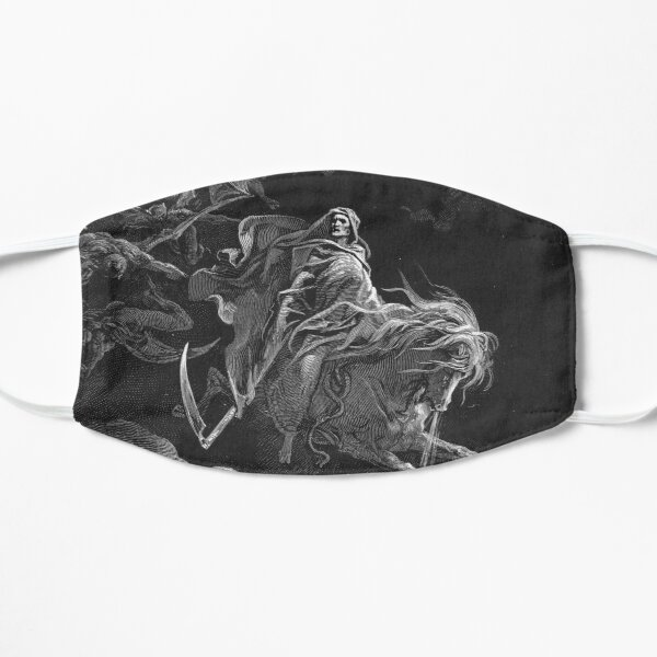 Death on a Pale Horse - Gustave Dore Flat Mask