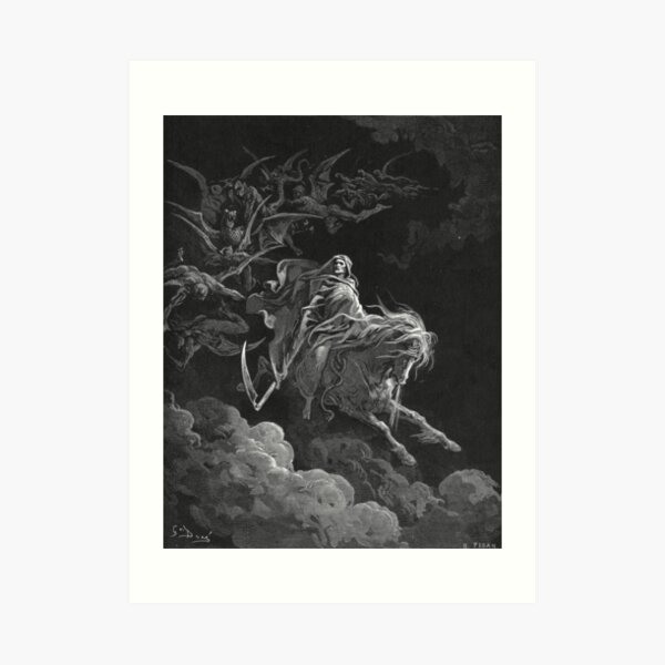 Death on a Pale Horse - Gustave Dore Art Print