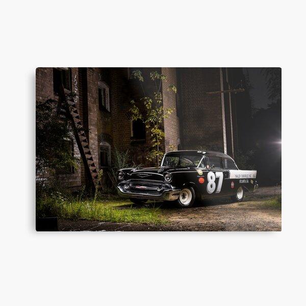 Steve Barks' 1957 Chevrolet Coupe 'Black Widow' Metal Print
