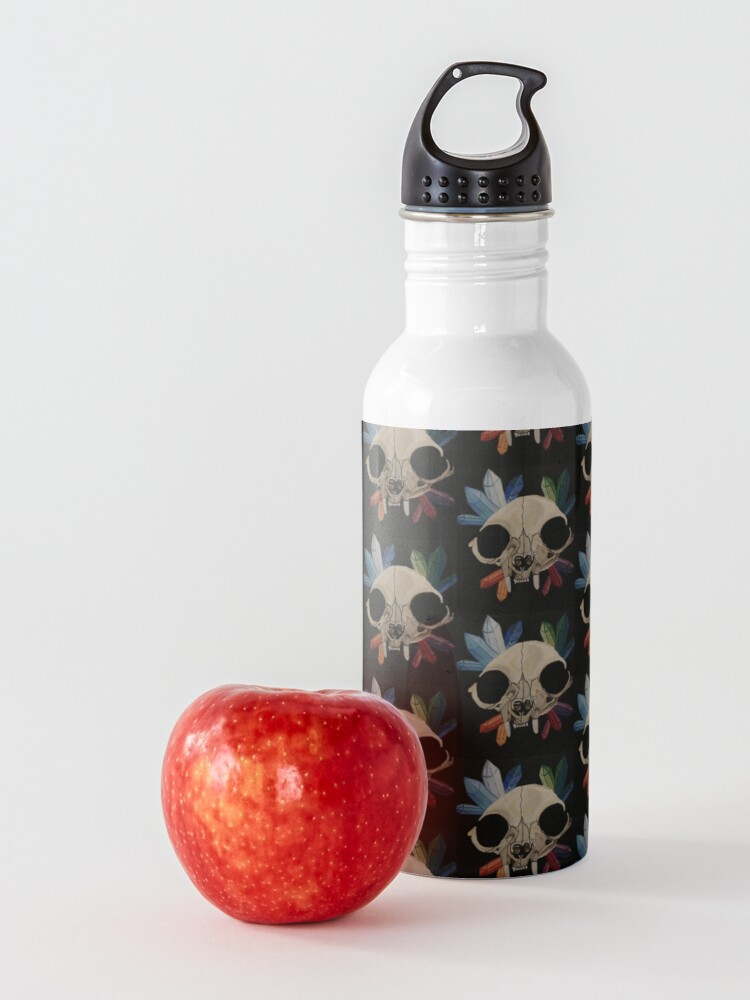 Alternate view of Cat & Crystals  Water Bottle