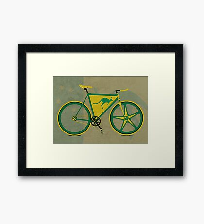 Australia Bike Framed Print