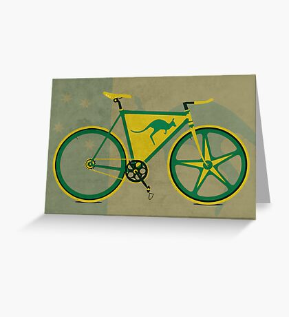 Australia Bike Greeting Card