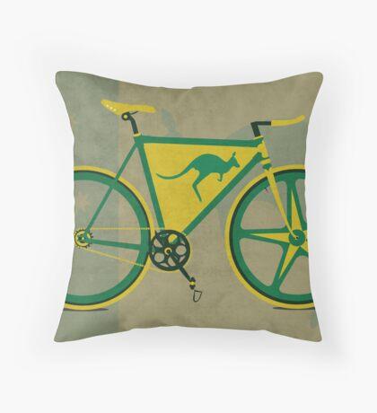 Australia Bike Throw Pillow
