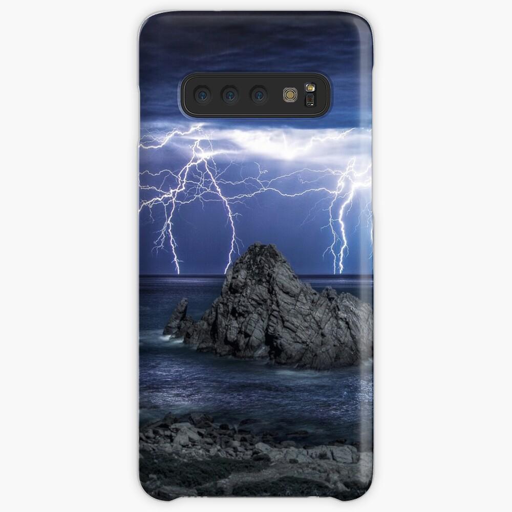 Lightning over Sugarloaf Rock Case & Skin for Samsung Galaxy