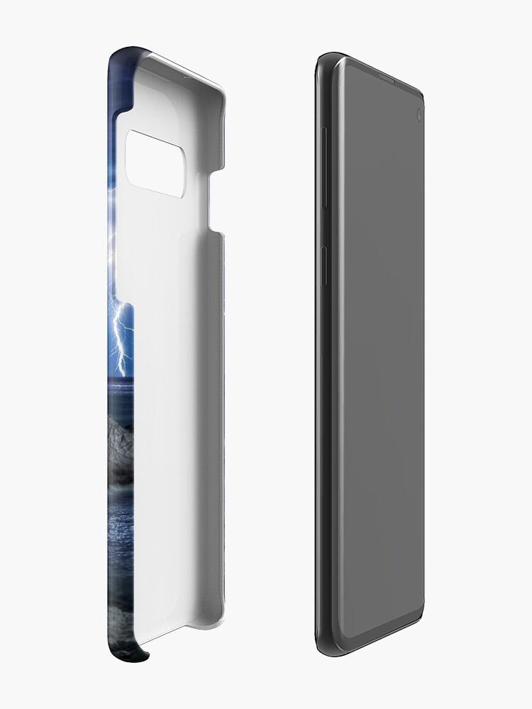 Alternate view of Lightning over Sugarloaf Rock Case & Skin for Samsung Galaxy