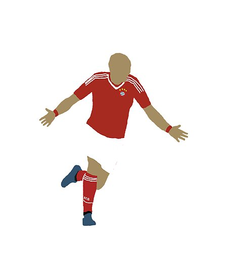 Arjen Robben Minimalist Design Champions League Winner von rodgers37