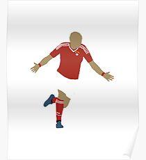Arjen Robben Minimalist Design Champions League Winner Poster