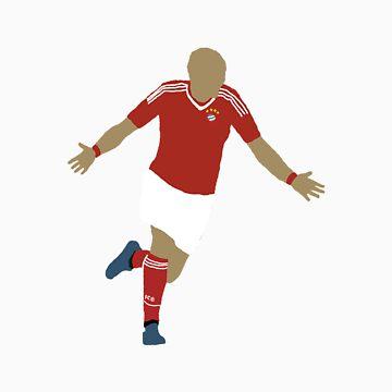 Arjen Robben Minimalist Design Champions League Winner by rodgers37
