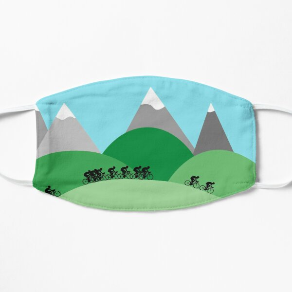 Cycling in the Hills Flat Mask