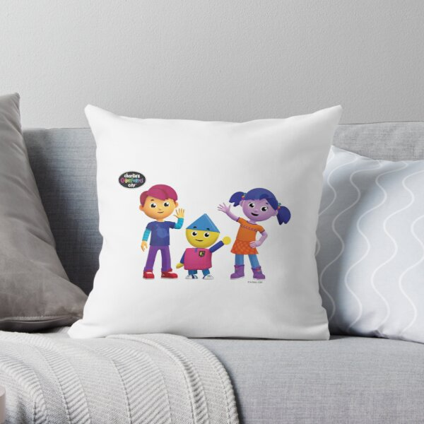 Charlie's Colorforms City Group Pose Throw Pillow
