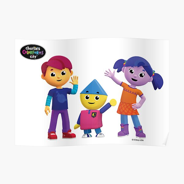 Charlie's Colorforms City Group Pose Poster