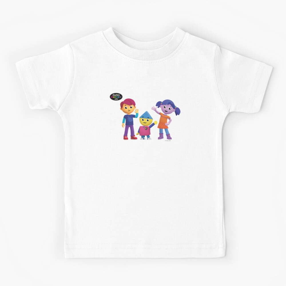 Charlie's Colorforms City Group Pose Kids T-Shirt