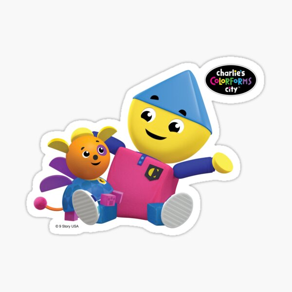 Charlie's Colorforms City - Charlie and Klunk Sticker