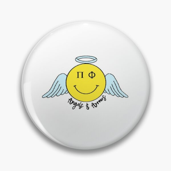Pi Phi Angel Smiley Pin
