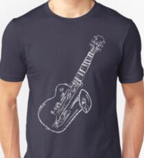 Abstract Music - White 45 Degrees T-Shirt