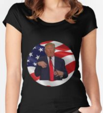 "Donald trump ""Make america great again!"" Women's Fitted Scoop T-Shirt"