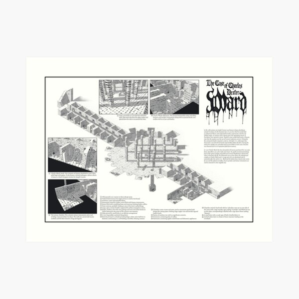 The Case of Charles Dexter Ward ISO dungeon Art Print