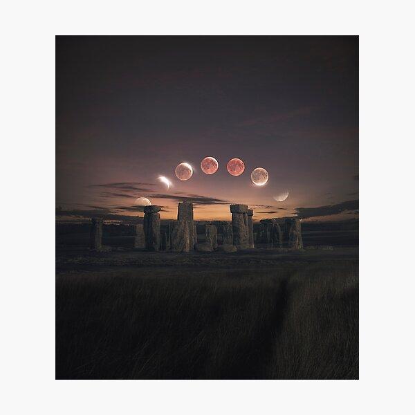 Blood Moon Eclipse, UK Photographic Print