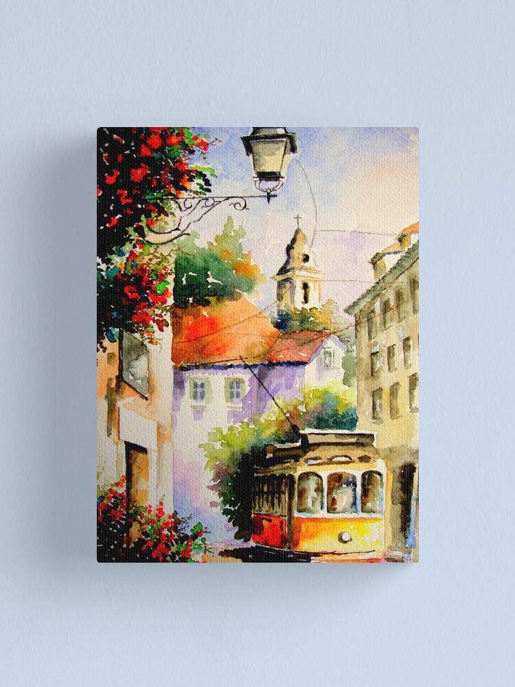 Alternate view of travel in lisbon.. Canvas Print