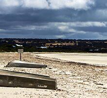 No vehicles past this point at Island Beach, Kangaroo Island by Elana Bailey