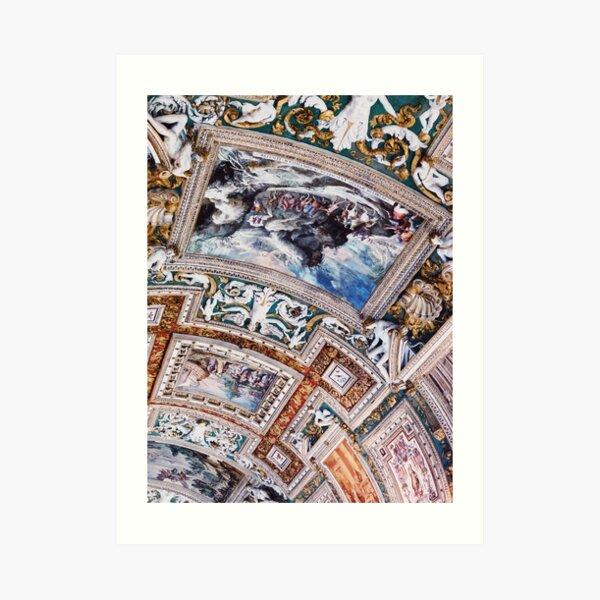 Italian Painting Artwork on Ceiling Michaelangelo Art Print