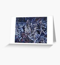 Frosty Dead Plants Greeting Card