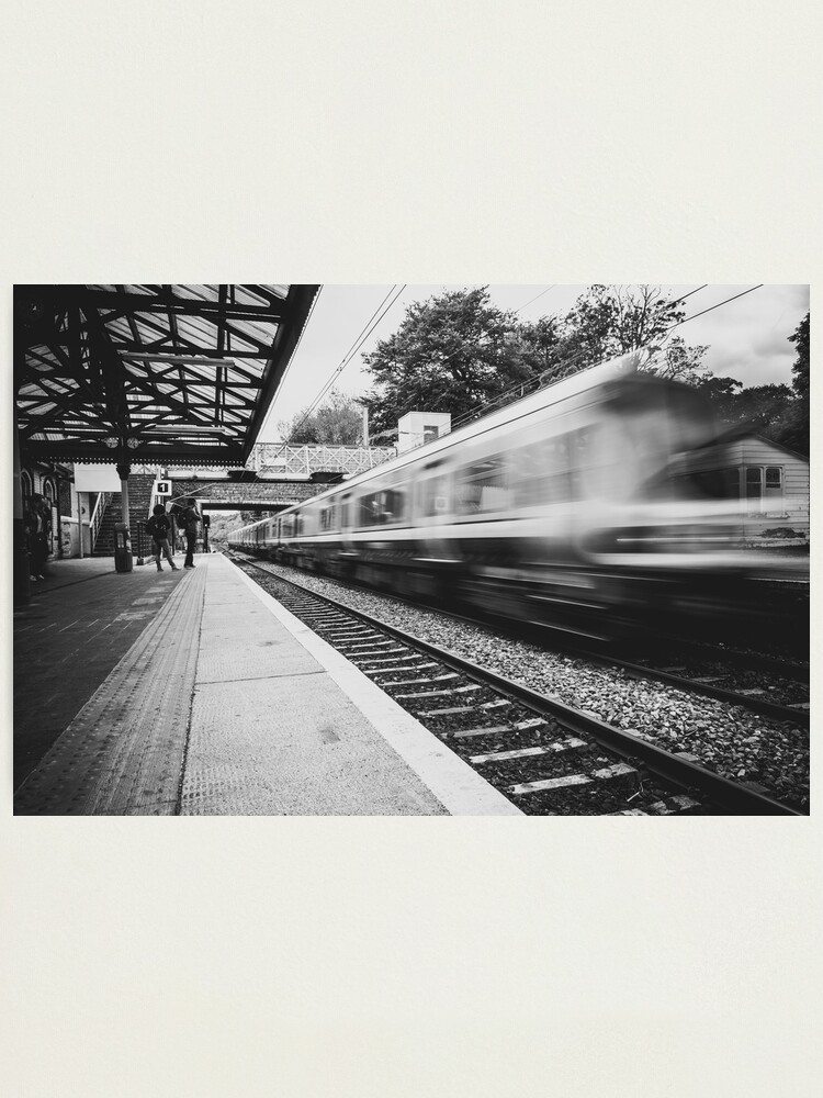 Alternate view of Malahide train station Photographic Print