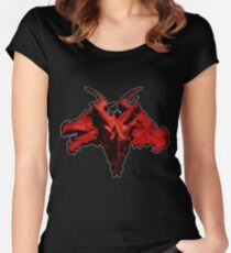 Three-Headed Dragon, Red Women's Fitted Scoop T-Shirt