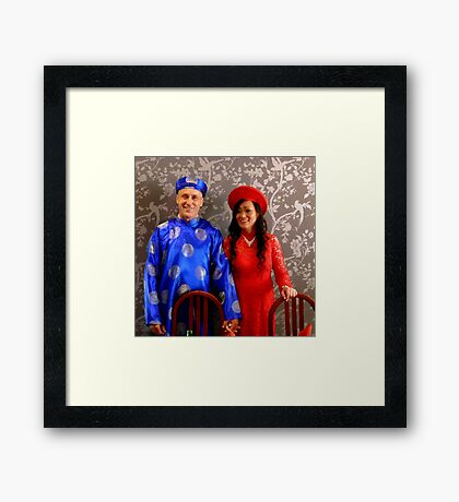 East Meets West Framed Print