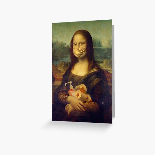 MONA-LISA QUARANTINE MODE Greeting Card