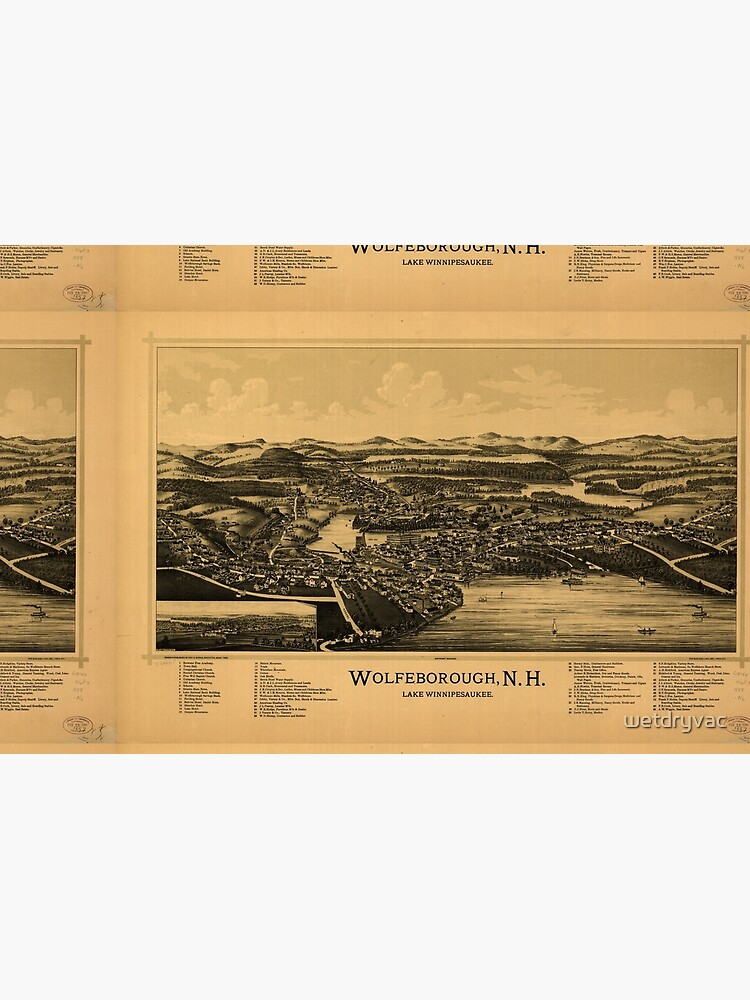 Panoramic Maps Wolfeborough NH Lake Winnipesaukee by wetdryvac