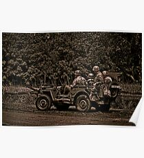 WWII Jeep Poster