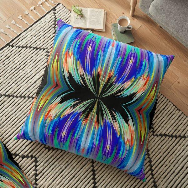 blue abstract klepsydra Floor Pillow