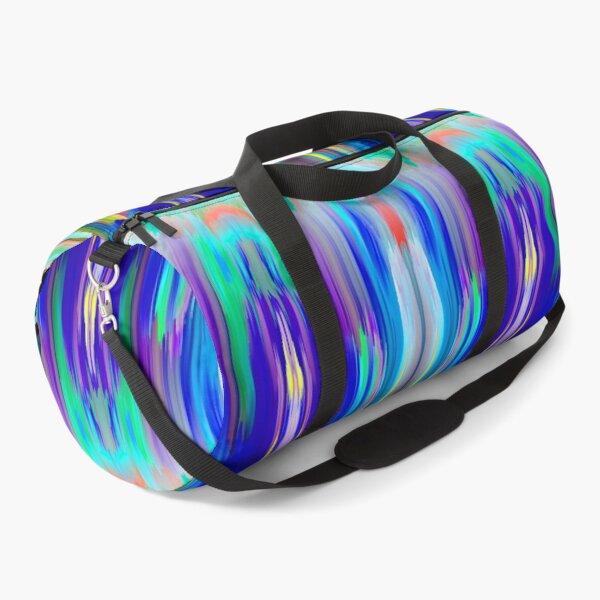 blue abstract klepsydra Duffle Bag