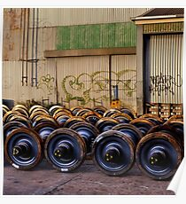Trian Wheels Poster