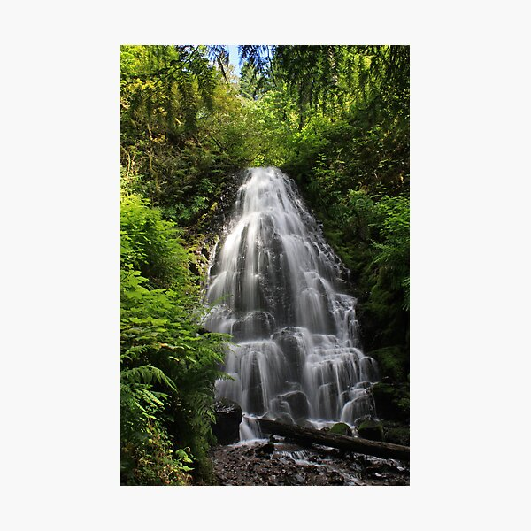 Fairy Falls, Columbia River Gorge, Oregon Photographic Print