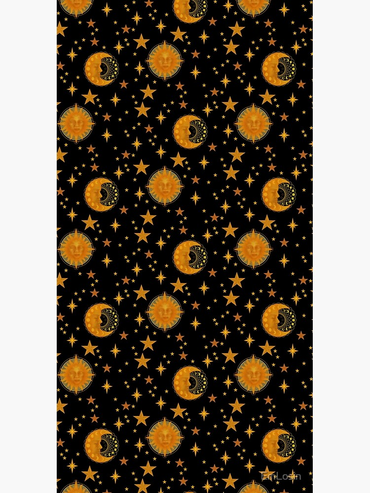 Bohemian 90's Sun and Moon Celestial Pattern by EmLosin