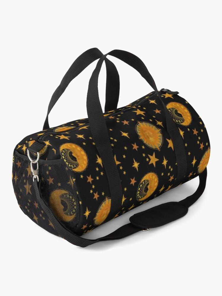 Alternate view of Bohemian 90's Sun and Moon Celestial Pattern Duffle Bag
