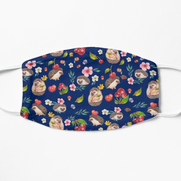 Hedgehog with cherries Flat Mask