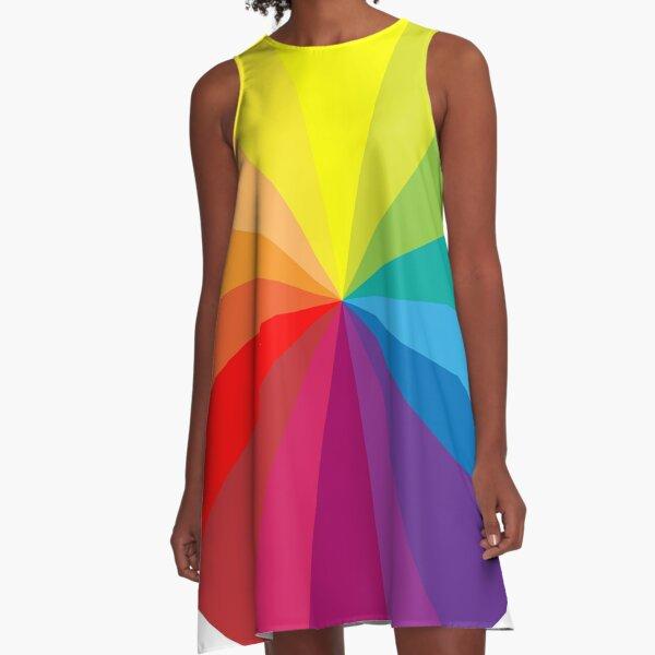 Colour Wheel A-Line Dress