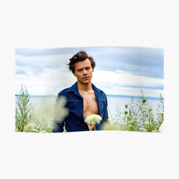 candid harry and flowers Poster