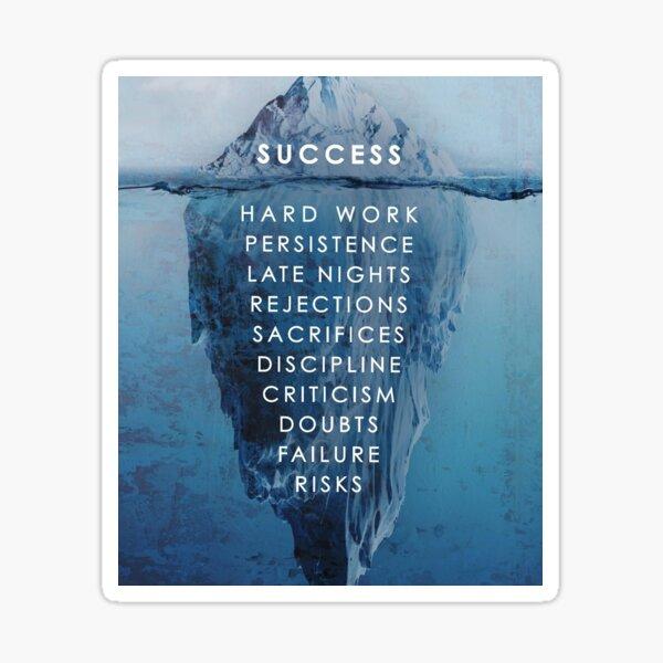 Success Ice Berg Model Sticker