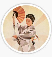 polygonal japanese dancer Sticker