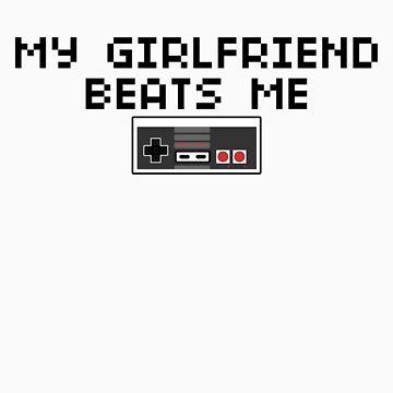 My Girlfriend Beats Me (Dark Text) by CVIII