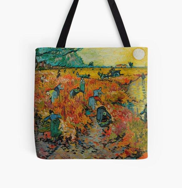 Vincent van Gogh - Red Vineyard at Arles All Over Print Tote Bag