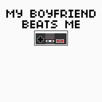 My Boyfriend Beats Me (Dark Text) by CVIII